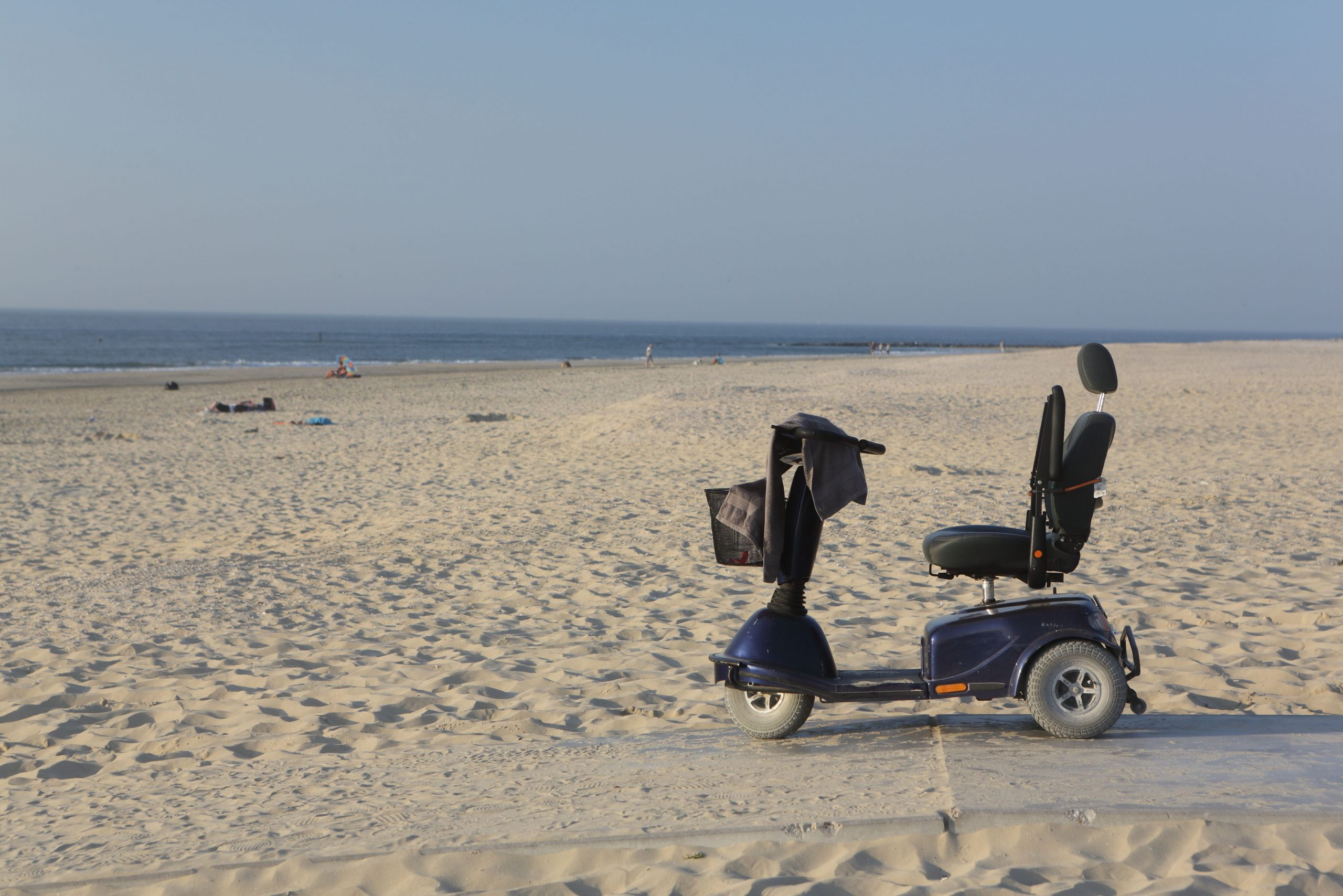 Mobility Scooter on the beach.